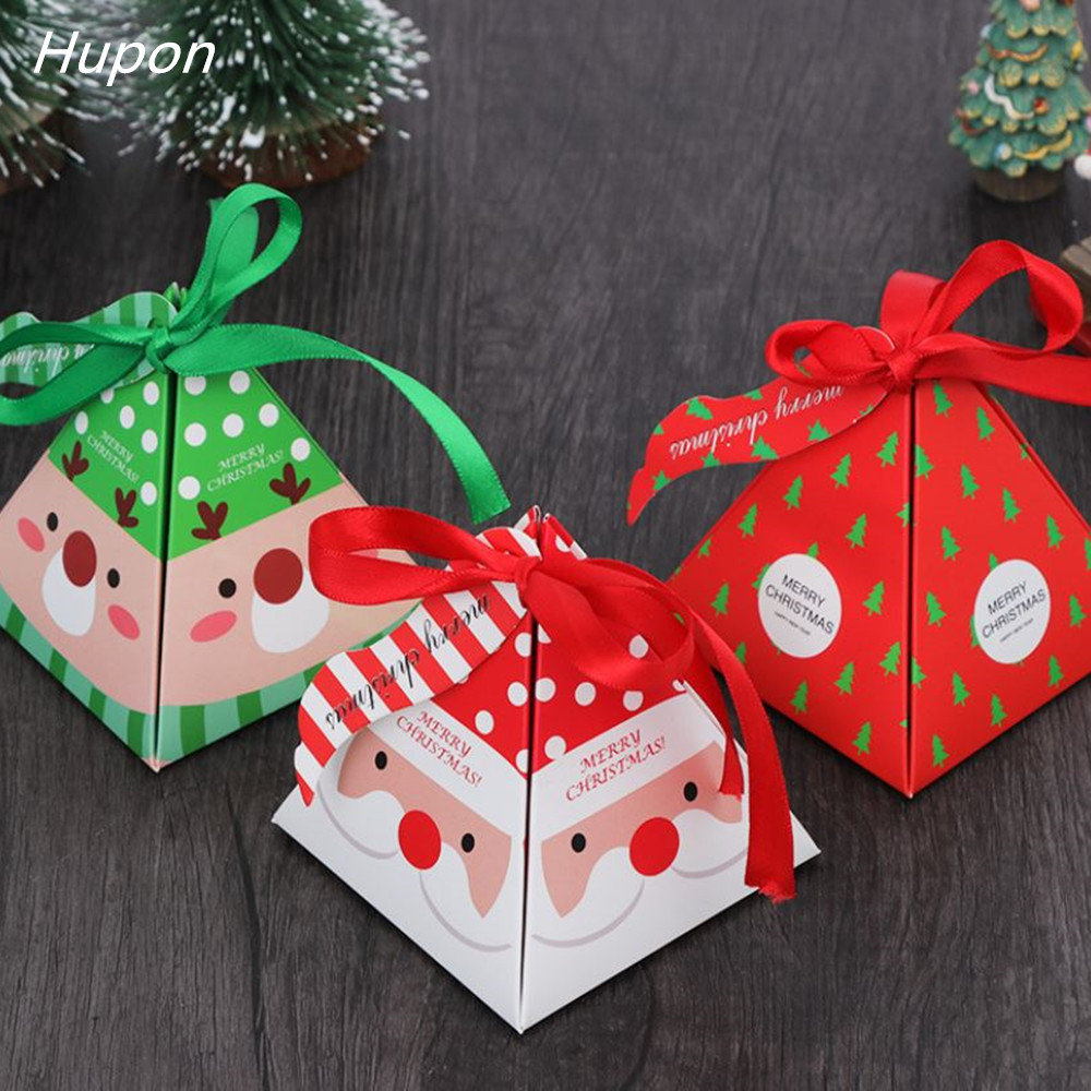 10pcs Christmas Decorations Gift Candy Boxes For Kids Birthday