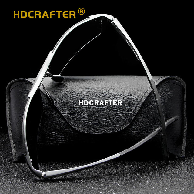 HDCRAFTER Aluminum Magnesium Men's Pilot Sunglasses Polarized Coating Mirror Driving Sun Glasses Oculos Male Eyewear For Men