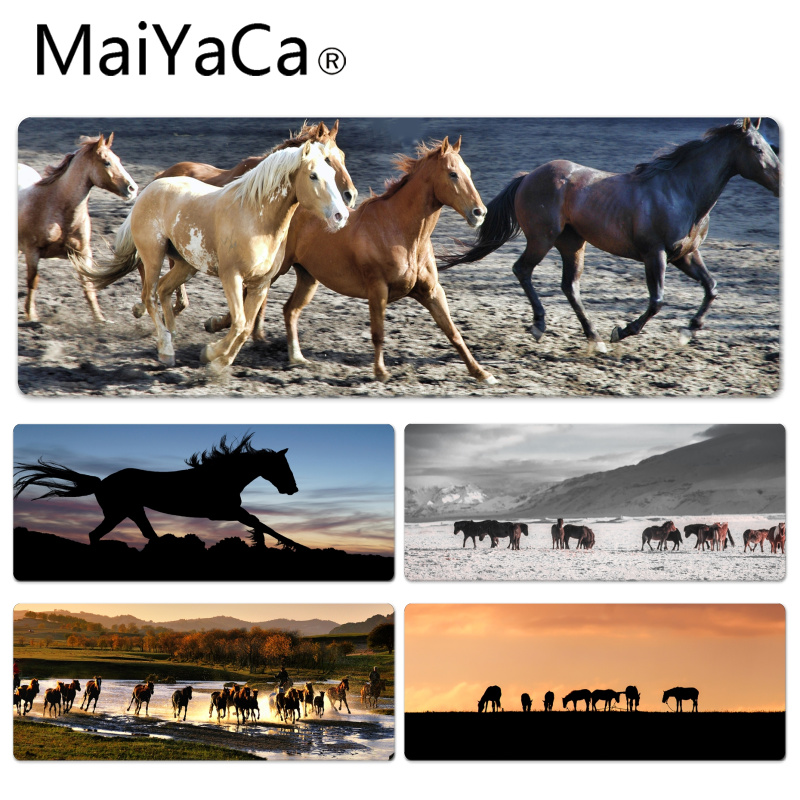 MaiYaCa Pentiums horse Large Mouse pad PC Computer mat Size for 30x90x0.2cm Gaming Mousepads