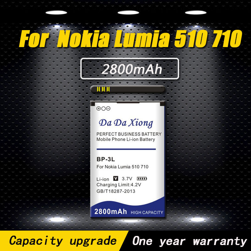 ca76b3a12fd High quality 2800mAh BP3L BP-3L Battery for Nokia Lumia 710 510 603 610C  900 303