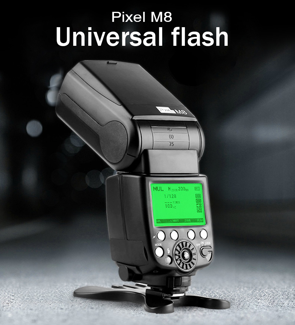 Pixel GN60 Flash Speedlite with Built-in 2.4G Wireless  For Canon Nikon Sony Panasonic Olympus Pentax Cameras VS YN560IV JY-680A for canon nikon pentax olympus sony dslr cameras universal yongnuo wireless flash speedlite yn560iii yn 560iii light vs in 560iv