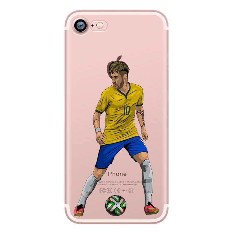 a44efa634 ... Barcelona Football Messi Neymar Cristiano Ronaldo Phone Cases Silicone  for iphone 5 6S 6 8 7