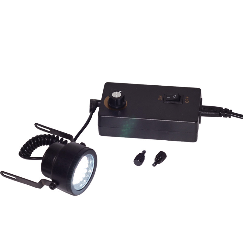 30 LED Illuminant Adjustable Angle & Brightness Oblique Light Source for Stereo Microscope with 220V Plug purple color 60 led illuminated ring lamps for stereo biological zoom stereo microscope with 220v or 110v adapter