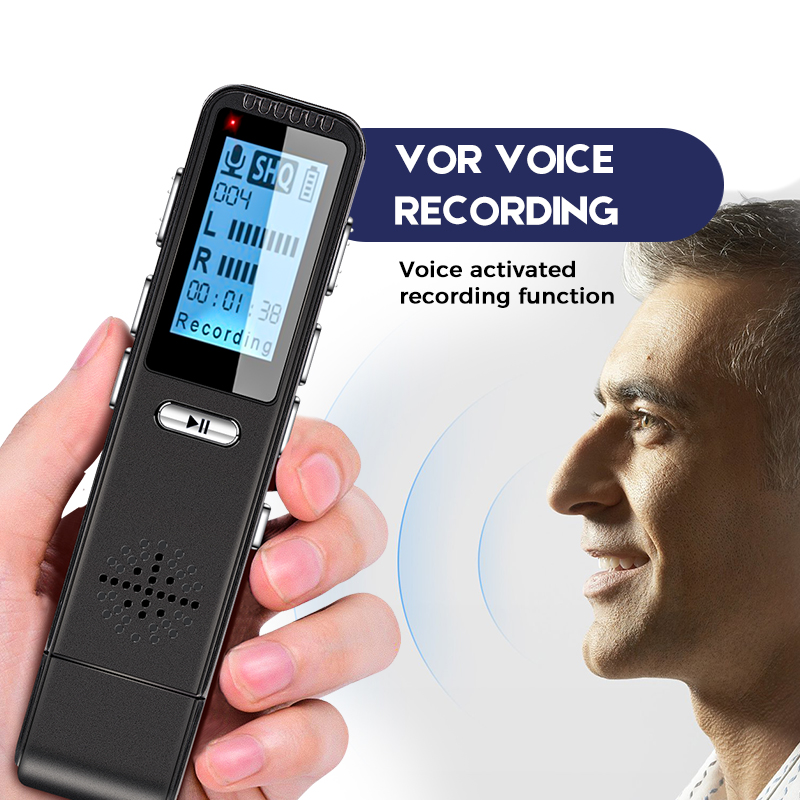 VOR Voice Control Recorder Dictaphone Hidden Audio Microphone