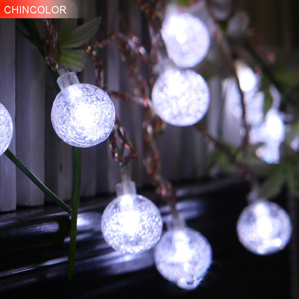 Holiday lights Bubble ball crystal ball Led Light string AC/Battery Operated christmas wedding valentine Day fairy decoration DA