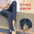 Últimas jeans maternidade Grávidas calças calças mulheres temporada idade han edição show de desgaste exterior fina abdominal tornar calças pés Y
