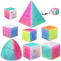 QiYi Jelly Cube Set Including Pyramid SQ 1 Mastermorphix Qidi S 2x2 Warrior W 3x3 QiYuan S 4x4 Qizheng S 5x5 Magic Cube Kits