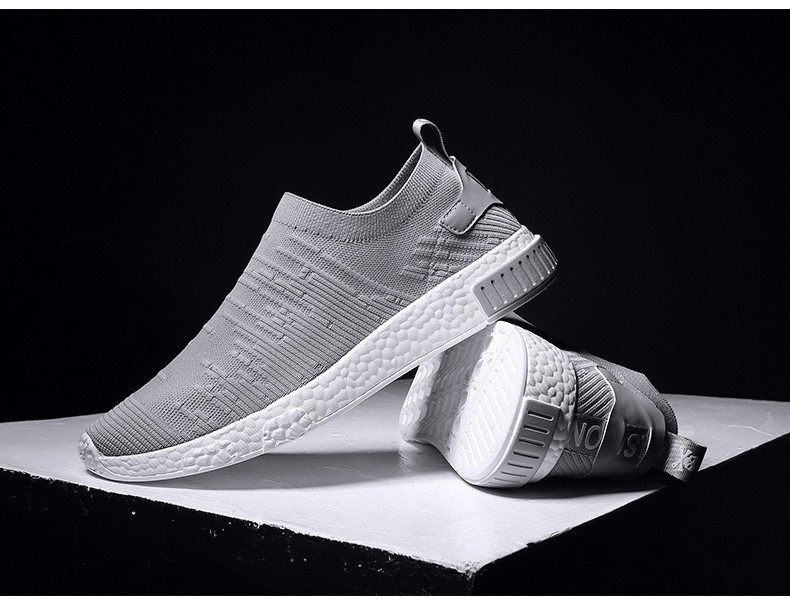 HTB1XDSqzb1YBuNjSszeq6yblFXay Thin Shoes For Summer White Shoes Men Sneakers Teen Shoes Without Lace Trend 2019 New Feel Socks Shoes tenis masculino chaussure