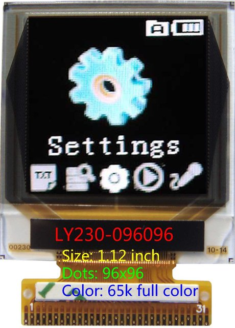 1.12 inch 96x96 color oled screen color oled display OLED