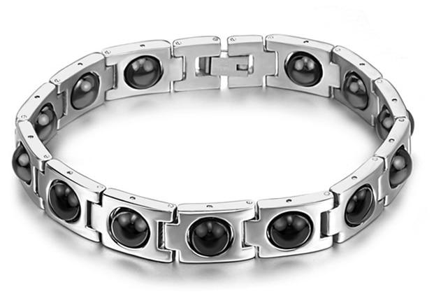 2015 new Korea design health magnetic bracelets & bangles titanium steel fashion jewelry for men