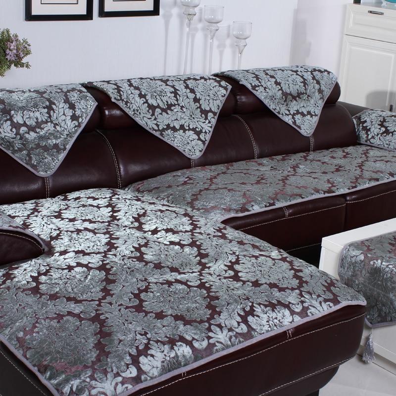 High End Leather Sofa: Leather Sofa Non Slip Cushion High End European Style