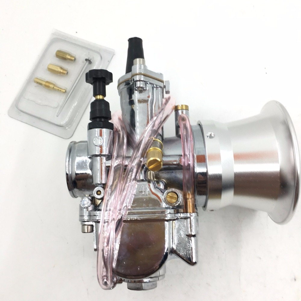 Tuning PWK 24 mm carb Vergaser chrome Edition Power jet jets stack rep keihin