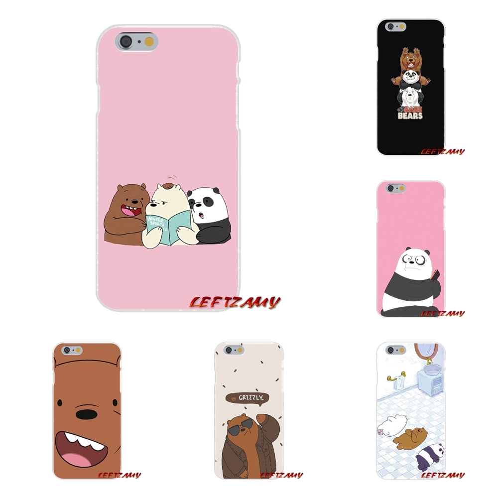 san francisco a388a ee638 US $0.99 |we bare bears miniso For iPhone X 4 4S 5 5S 5C SE 6 6S 7 8 Plus  Accessories Phone Shell Covers-in Half-wrapped Cases from Cellphones & ...