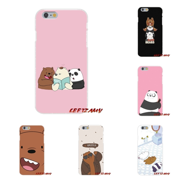 e2d8c21292 we bare bears miniso For iPhone X 4 4S 5 5S 5C SE 6 6S 7 8 Plus Accessories  Phone Shell Covers-in Half-wrapped Case from Cellphones &  Telecommunications on ...