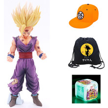 Anime Dragon Ball Z Super Saiyan Son Gohan Goku Figuras de Ação Chapéu Hip Hop Tampas Dragonball Figura Collectible Toy Modelo presente(China)