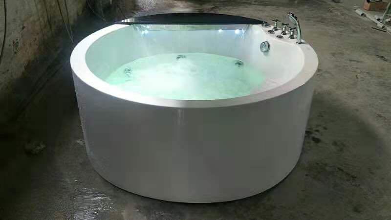 Banheira de hidromassagem acrílica redonda de 1500mm banheira de hidromassagem cachoeira dupla pessoas banheira ns1106-1