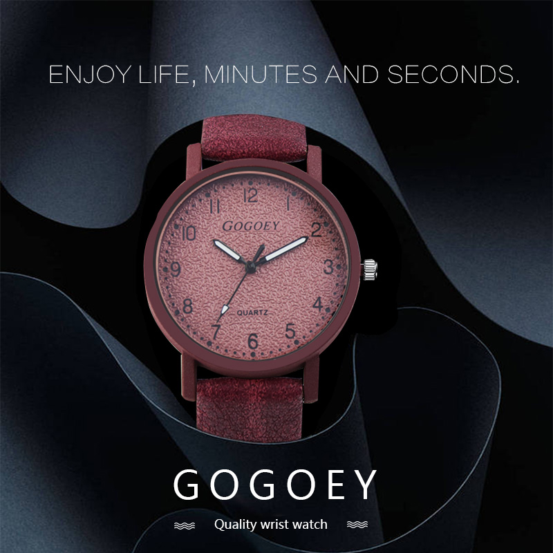 Gogoey Brand Women's Watches Fashion Leather Wrist Watch Women Watches Ladies Watch Clock Mujer Bayan Kol Saati Montre Feminino 11