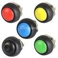 A13 5 PÇS/LOTE Preto/Vermelho/Verde/Amarelo/Azul 12mm VE059 Momentânea botão Interruptor À Prova D' Água P