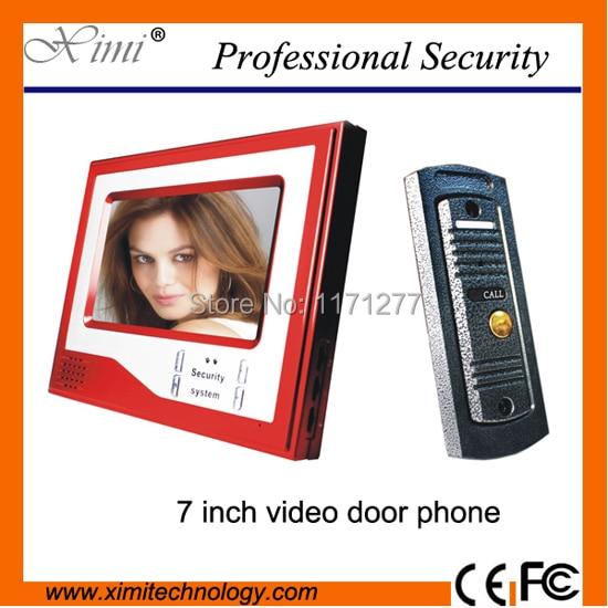 Hot sale!! new arrival video doorbell home video door phone 7 inch color monitor hot sale wireless doorbell easy