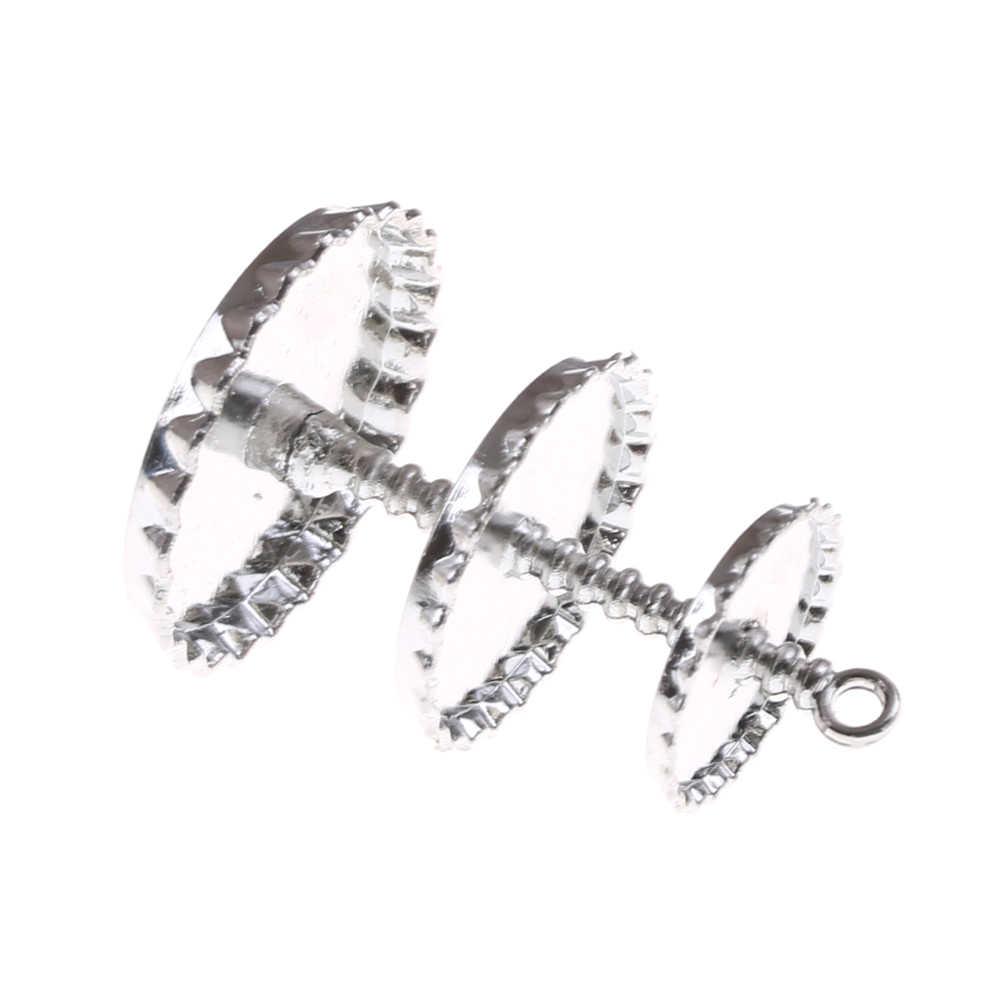 TOYZHIJIA 1pc 1/12 domek dla lalek miniaturowe 3 warstwa metalu desery przekąski stojak