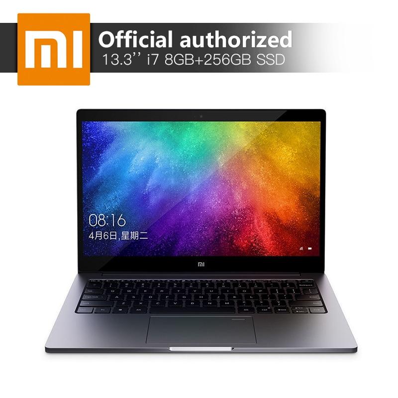 Xiaomi 13,3 ''ноутбук Intel Core i7-8550 4 ядра Процессор 8 ГБ Оперативная память 256 ГБ SSD 2 ГБ GDDR5 ультратонкий ноутбук с отпечатков пальцев признать