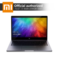 Xiaomi 13,3 ''ноутбук Intel Core i7 8550 4 ядра Процессор 8 ГБ Оперативная память 256 ГБ SSD 2 ГБ GDDR5 ультратонкий ноутбук с отпечатков пальцев признать