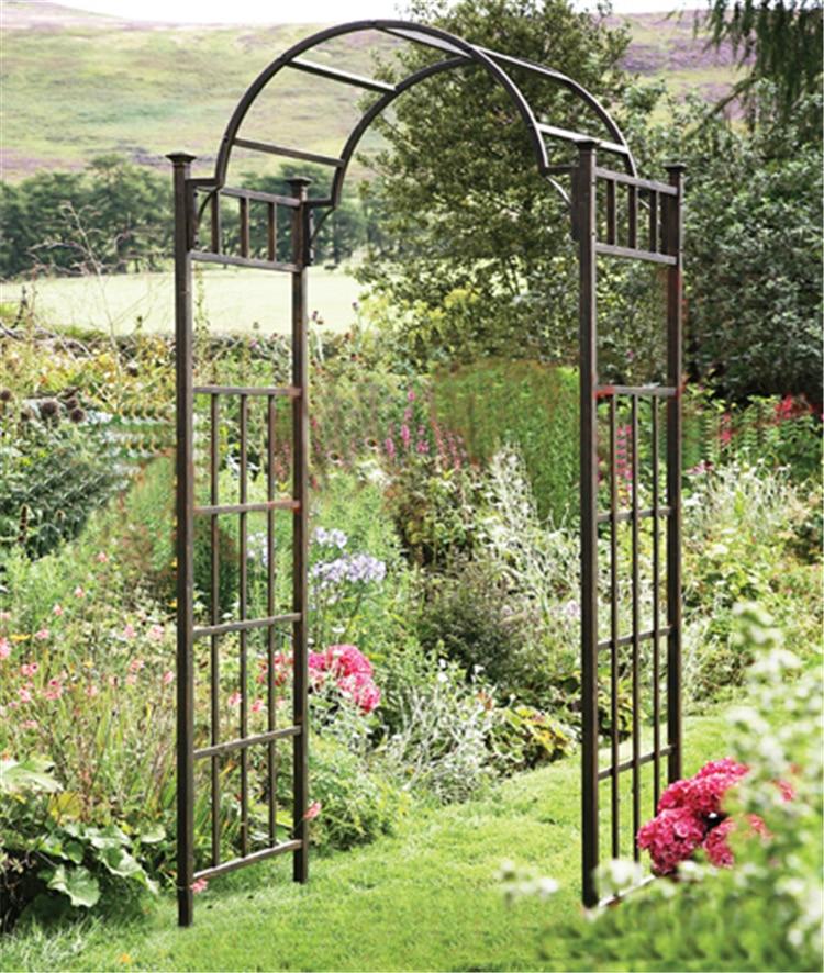 Continental ferro giardino archi patio giardino porta decorazione arco fiore di seta di nozze - Decorazione archi in casa ...
