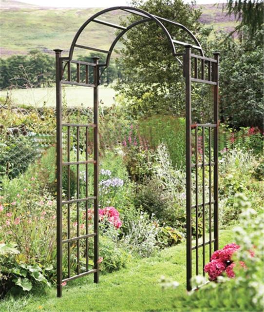continental hierro jardn arcos de la puerta del patio jardn decoracin de flores de seda arco