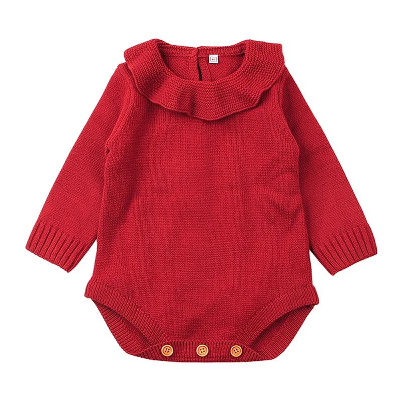 2018 Neugeborenen Baby Mädchen Pullover Stricken Warmen Body Langarm Nette Overall Outfits Kinder Kleidung Winter Mode Neue Verkauf 0 -18 Mt Dauerhafter Service