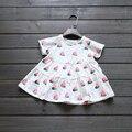 Девушки арбуз платье 2016 летние детские платья для детей с коротким рукавом бобо выбирает девушка одежда