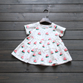 Girls watermelon Dress 2016  Brand Summer Baby girls dresses for kids short sleeve  Bobo choses Girl clothes
