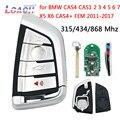 4 botón inteligente de la llave de control remoto Fob pcf7953 para BMW CAS4 FEM CAS1 2 3 4 5 5 5 6 6 7X5X6 CAS4 + FEM 2011-2017, 315 MHz/434 MHz/868 MHz