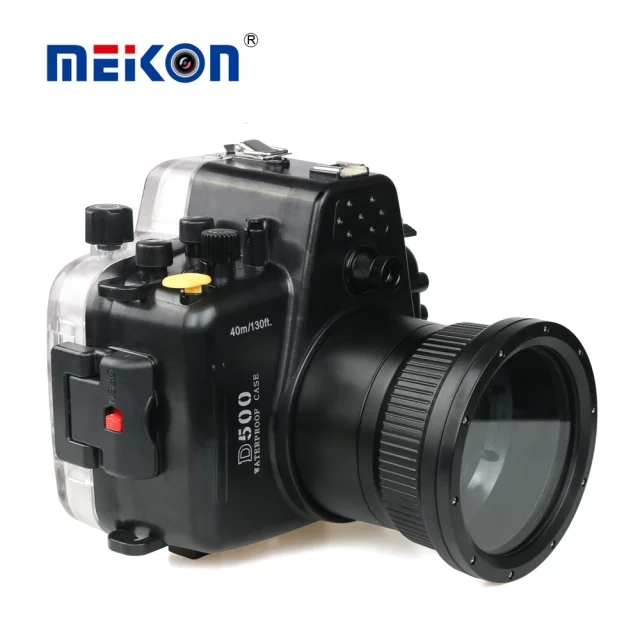 60m 195ft Waterproof Underwater Diving Housing Case for Nikon D500 + 105mm F/2.8G IF ED Lens