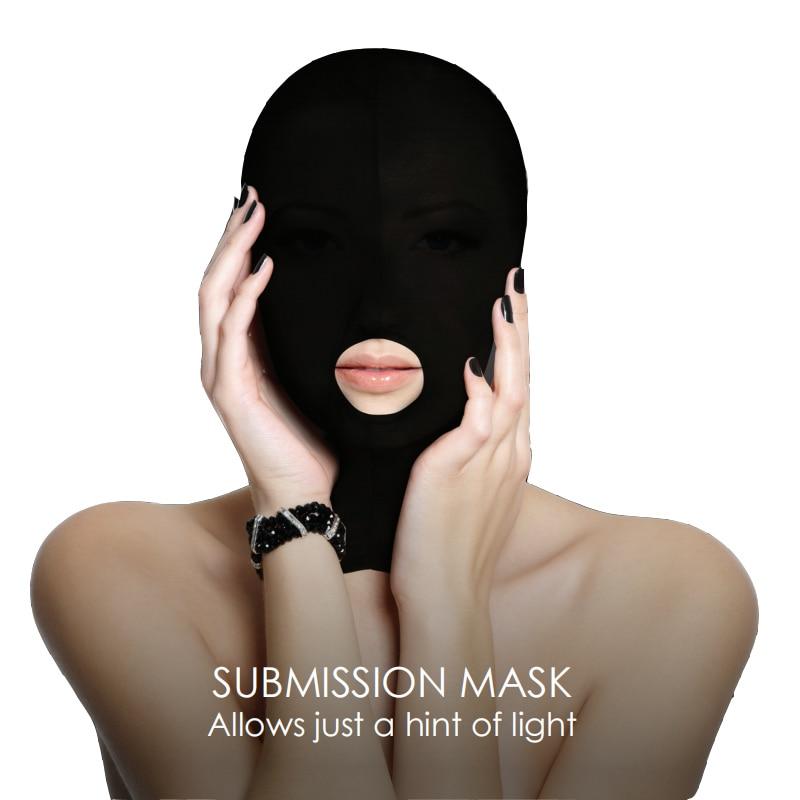 Exotic Accessories Head Sex Mask Fetish Slave BDSM Bondage Restraints Sex for Couples Love Game 5