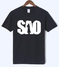 Anime Sword Art Online S.A.O T Shirt 2018 Summer Hip Hop Streetwear Men T Shirts 100% Cotton Short Sleeve Round Neck Men Tshirts