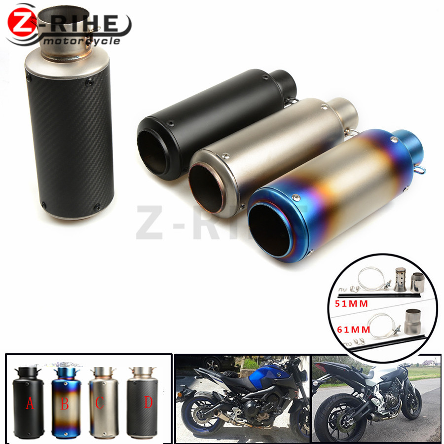 Motorcycle Exhaust Pipe Scooter Modified exhaust Muffler pipe For Triumph Tiger 800 1050 Rocket III Street Tri