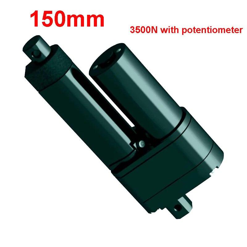 150mm Stroke 3500N Linear Motor Electric Linear Actuator 12v Linear Actuator With Potentiometer150mm Stroke 3500N Linear Motor Electric Linear Actuator 12v Linear Actuator With Potentiometer