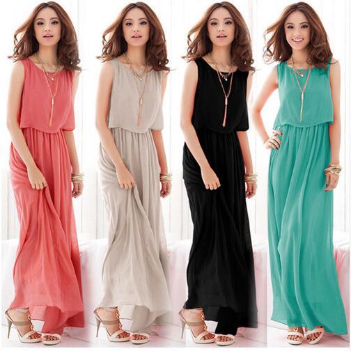 2016 Boho Dress Chiffon Big Plus Size Summer Dress Long Maxi Dress Robe Casual Sexy Women Elegant Beach Dress Vestido de festa