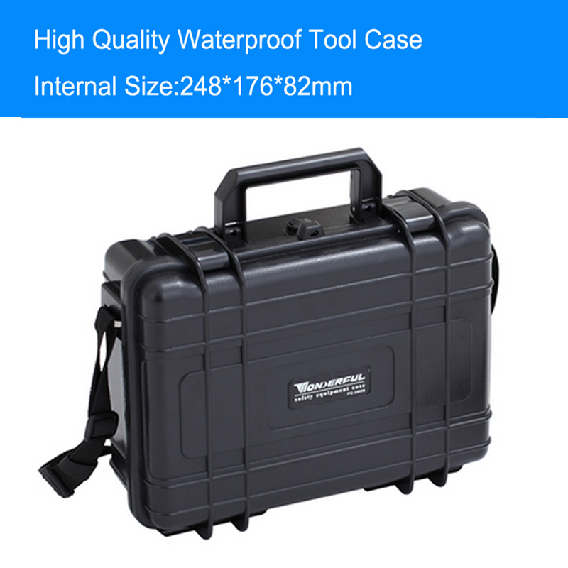 Tool Case Toolbox Waterproof Camera Case With Pre-cut Foam  Survival Portable Container Tool Carry Storage Shipping Free