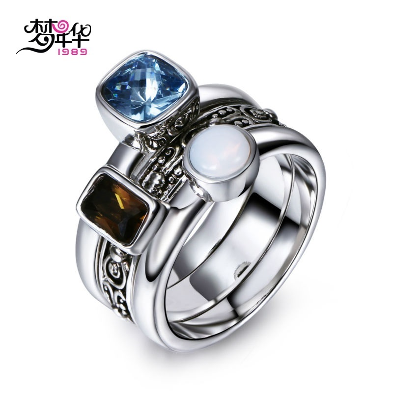 Dreamcarnival1989 Unique Vintage Rings For Women Three Colors