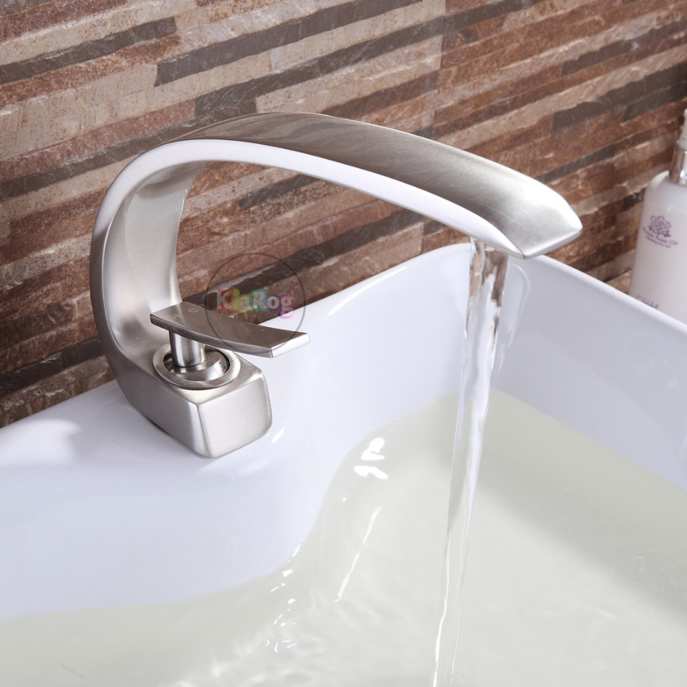 Basin Faucet Brass Made Chrome Faucet Brush Nickel Sink Mixer Tap Vanity Faucet Hot Cold Water