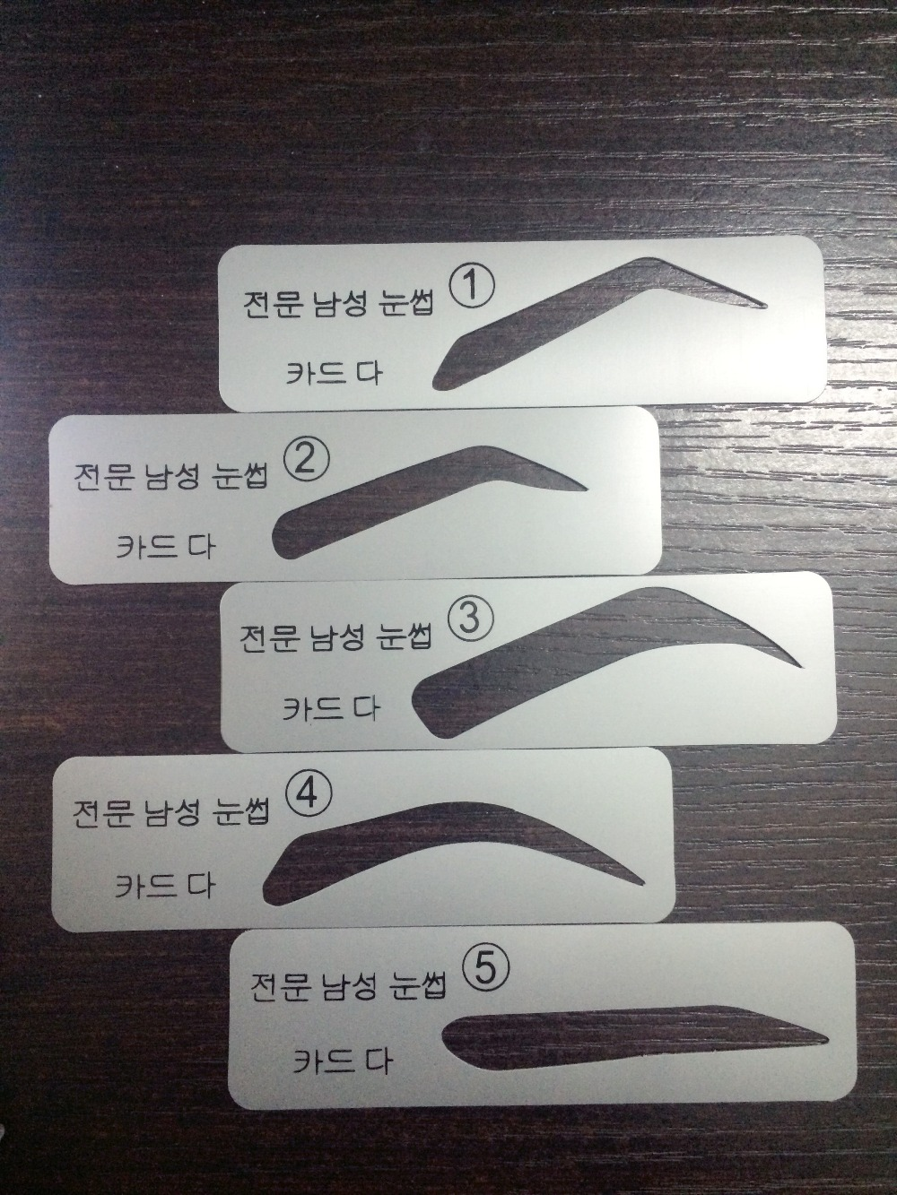 100sets Lot Eyebrow Stencils 5 Types For Template Man Make Up Tools Free Shipping