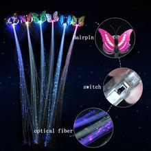 5Pcs LED Flashing Hair Braid Glowing Luminescent Hairpin for New Year Party Christmas Gift