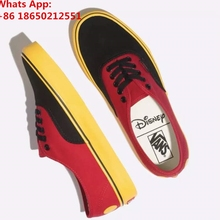 Vanses x Disneys Authentic Mickey Mouse Red Yellow Black Mens and  Kids(China) 0f7974de6b3a