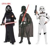 LIVA GIRL Children Boys Star Wars Kylo Ren Costume The Force Awakens Cosplay Fancy Dress Festival