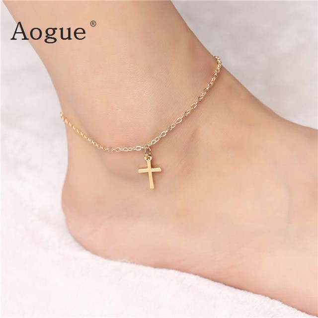anklets beads newchic anchor round gold dded womens anklet silver leather popular tassel flower c