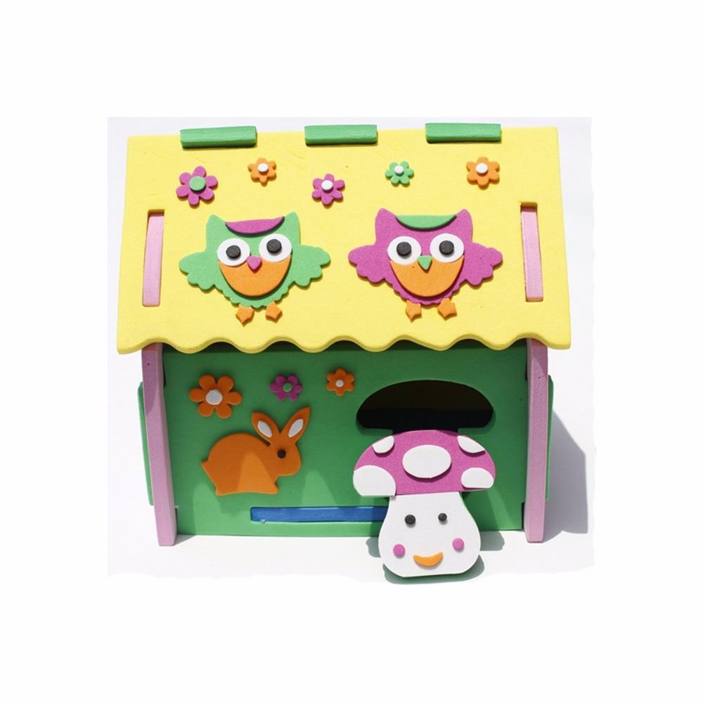 Lustige 3d diy pilz anzahl haus puzzle modell eva schaum kindergarten entwicklung spielzeug geschenk für