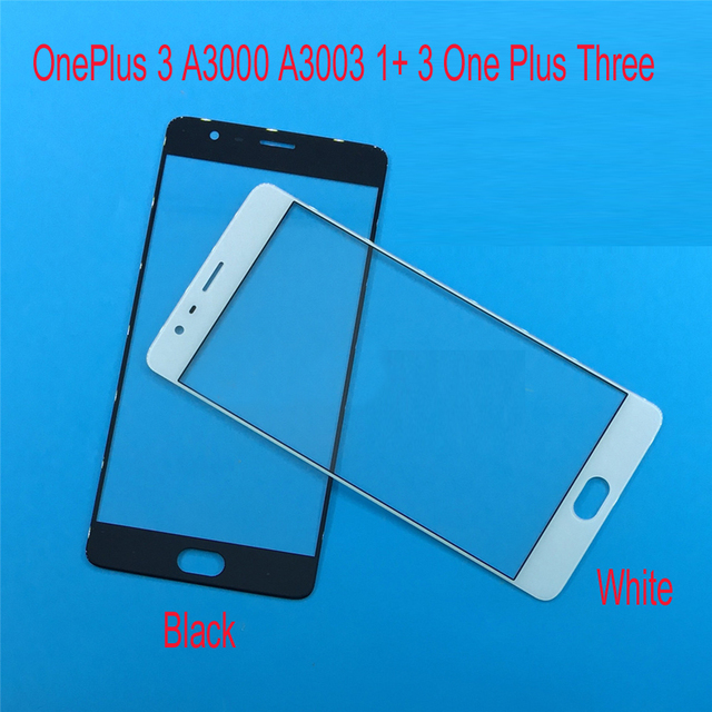 100% Good Working New Front Glass Panel for Oneplus 3 One Plus Three A3000 A3003 Outer Screen Mobile Phone Replacement Parts