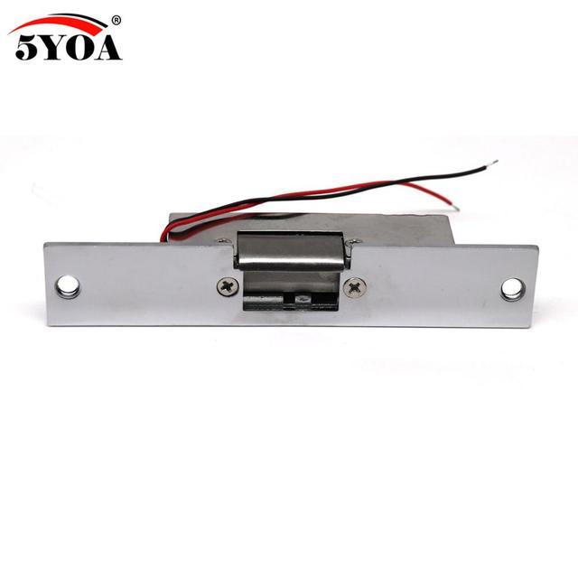 Erişim kontrolü 12 V DC Güvenli NC dar tipi Kapı Elektrikli Strike Kilit Erişim Kontrol Güç Kilitleri