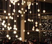 LED Crystal Chandelier Chain Pendant Lamp Meteor Rain Meteoric Shower Stair Bar Chandelier Lighting AC110 240V